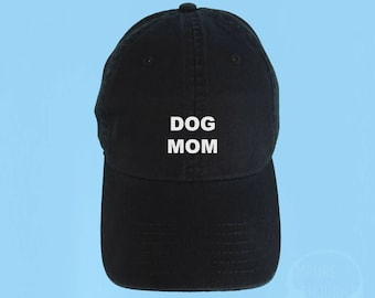 92bbe92ca36 DOG MOM Dad Hat Embroidered Baseball Black Cap Low Profile Custom Strap  Back Unisex Adjustable Cotton Baseball Hat