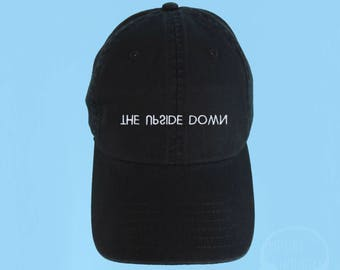 66cfbb7bd14 THE UPSIDE DOWN Dad Hat Embroidered Baseball Cap Black Low Profile Custom  Strap Back Unisex Adjustable Cotton Baseball Hat