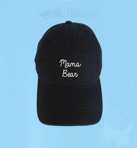 addee9cdf2a MAMA BEAR Dad Hat Embroidered Baseball Cap Low Profile Custom