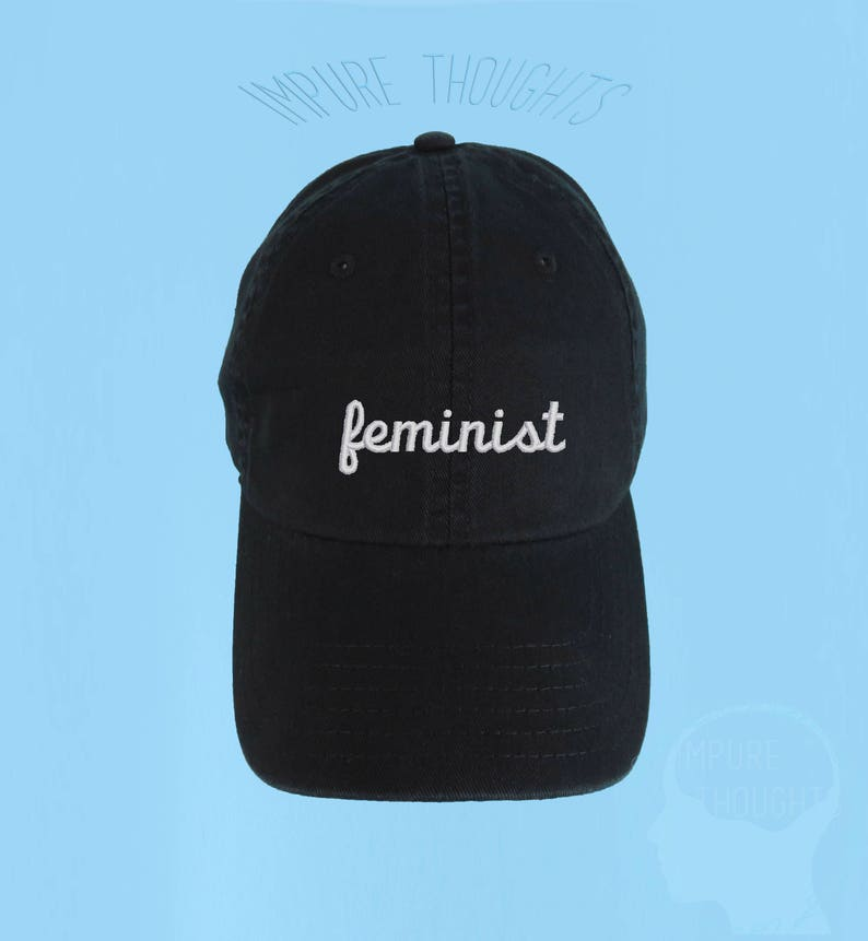 a1ce6cf9e FEMINIST Dad Hat Embroidered Baseball Black Cap Low Profile | Etsy