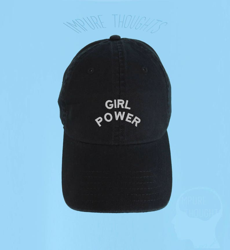 375630761d5e9 GIRL POWER Dad Hat Embroidered Baseball Cap Low Profile Custom