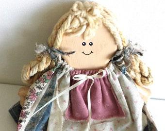 Vintage Wooden Doll, Vintage Doll, Wooden Doll, Collectible Doll, Collectible Wooden Doll, Decorative Doll