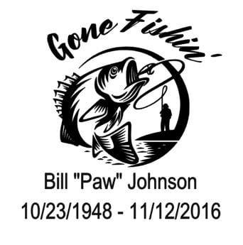 Download Fishing Memorial Gone Fishing Memorial Car Decal In Loving Etsy