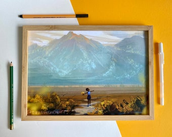 Blue ridge mountains (Art print)
