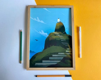 The lighthouse (Art print)