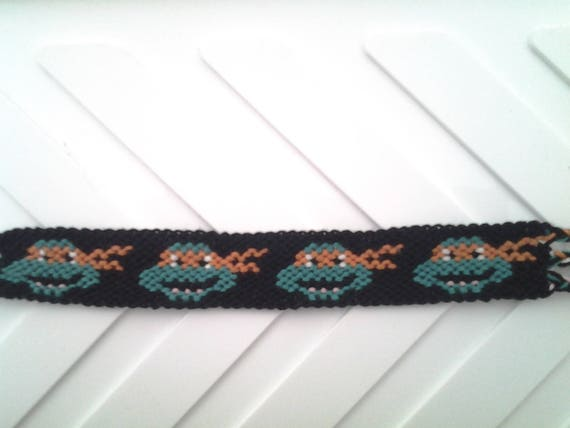 Bracelet br silien tortue ninja bandeau orange - Tortue ninja orange ...