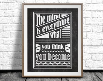 Encouraging print, Typography art, Blackboard Quote, Black and White art print, Quote Home Decor, Chalkboard Printable, Wall Art