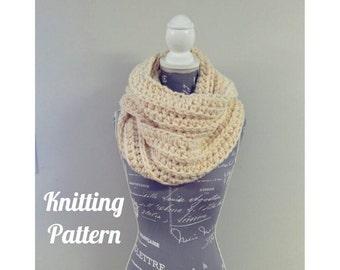 Chunky Knit Infinity Scarf PATTERN / Dalloway