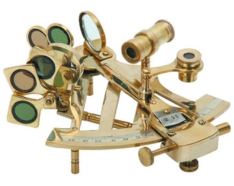 1 Brand New Brass Sextant measuring loupes tool loupe Includes adjustable arc, index mirror, sun filters and a horizon tools