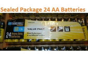AA Batteries Sealed Package for power tools flashlights clocks can openers remotes electronics cameras & other battery operated items