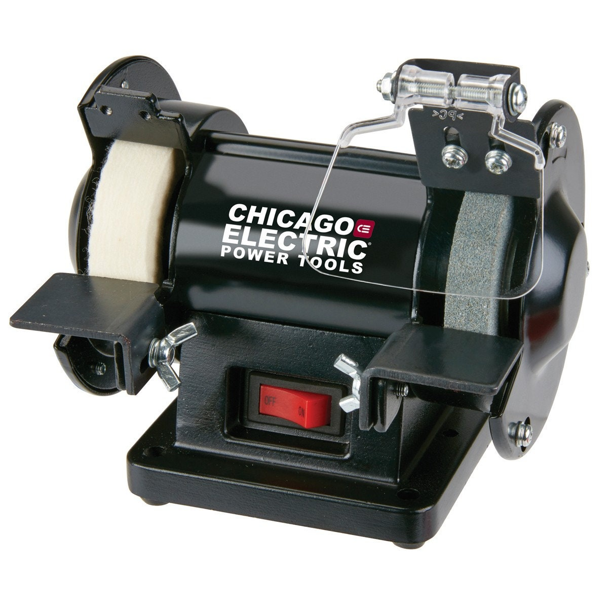 Bench Grinder Brand New Power Tool With Buffing Disc Wheel