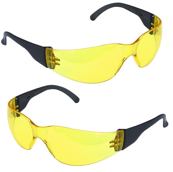 Clear Smoked Tint Lenses Yellow Lens Eye Safety Glasses eye Wear Protection  Automotive Home Improvements Hobby   Craft 38ae581f66