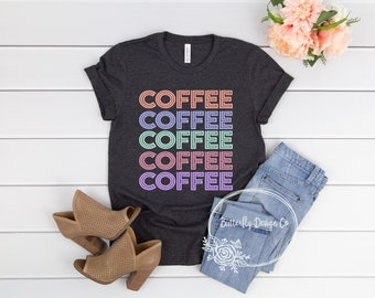 7c72641e0 Coffee Shirt - Retro Coffee Shirt - Cute Coffee Shirt - Coffee Lovers Shirt  - Coffee Tee - Coffee Lover Gift