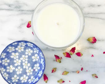 Large 'At Home' hand poured soy wax candle.