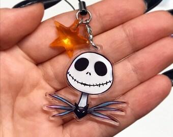"Jack Acrylic Charm 1.5""   Nightmare   Double Sided Keychain   Gifts   Kawaii   Cute   Ita Bag Accessories   Disney   Christmas   Halloween"