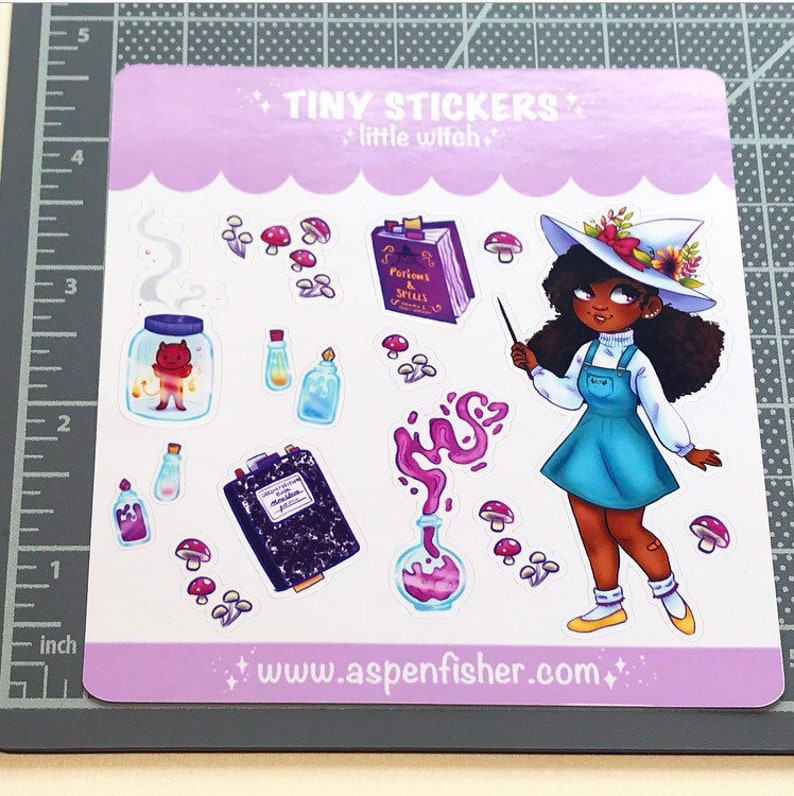 Little Witch Mini Stickers  Planner Stickers image 0