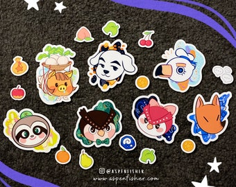 Animal Crossing Stickers    Matte Die Cut   ACNH   Gifts   Bujo   Planner   Laptop   Nintendo Switch   Kawaii   iPad   Gaming   Scrapbooking