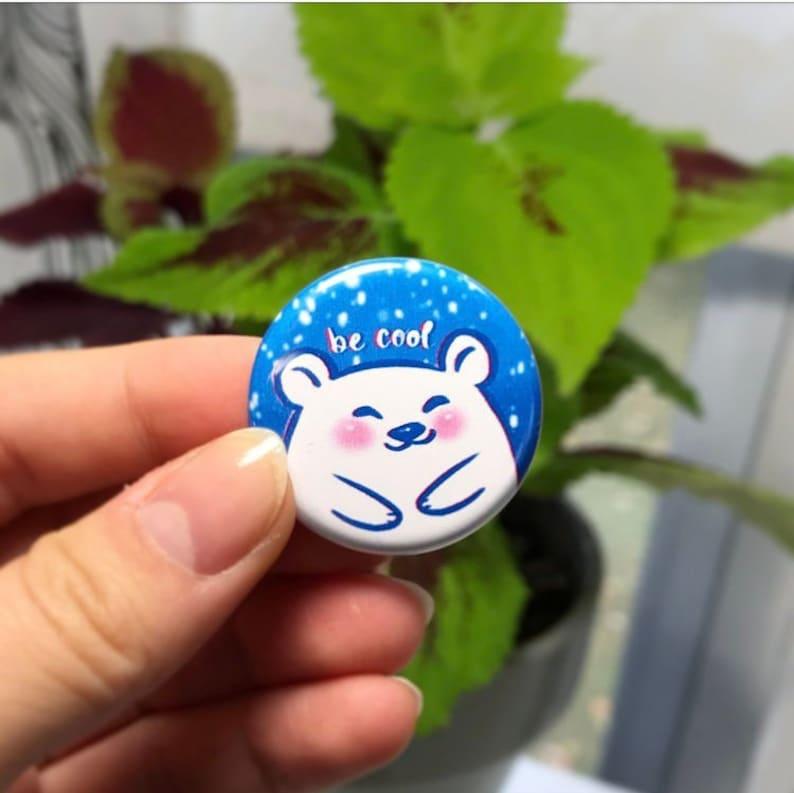 Polar Bear Be Cool Button image 0