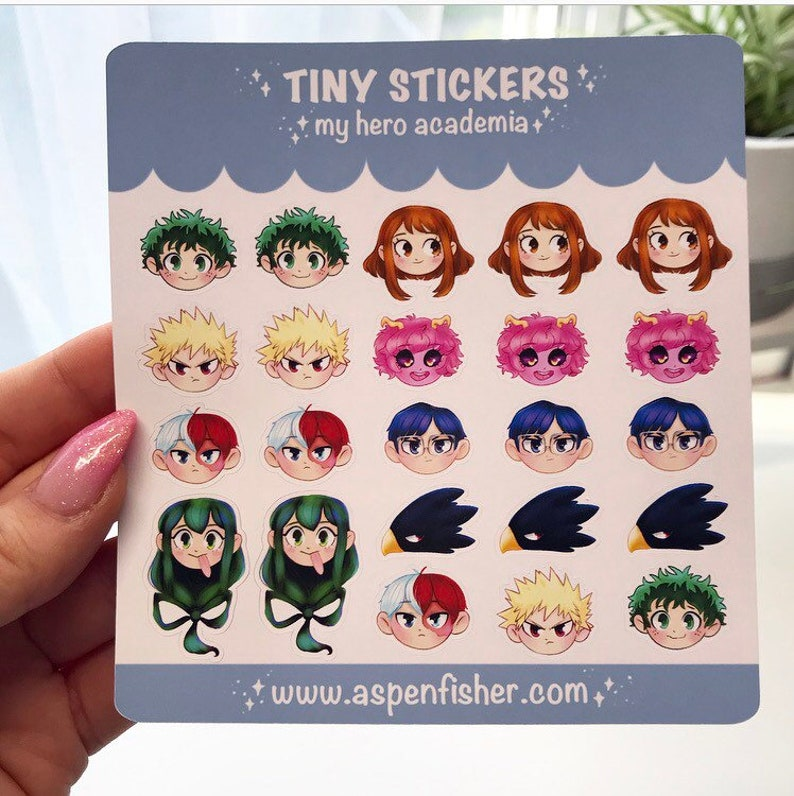 My Hero Academia Mini Stickers  Planner Stickers image 0