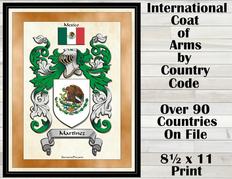 International Coat Of Arms By Country Code You Know The Etsy