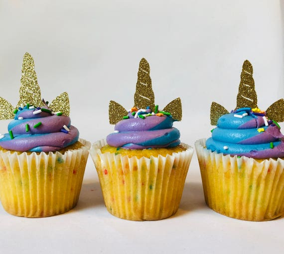 Unicorn Cupcake Topper Birthday Cupcakes