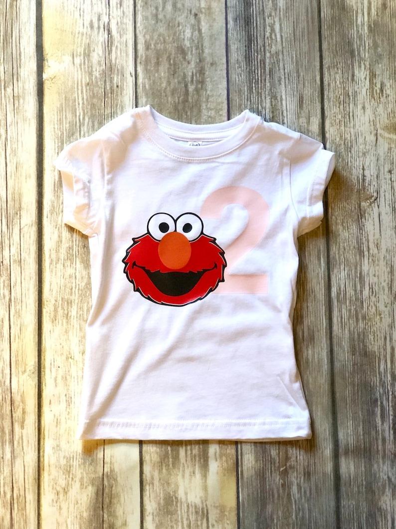 Birthday Outfit Fabric Tutu Elmo Inspired Birthday Tutu