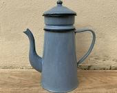 Vintage French Enamelware purple Enamel Coffee Pot 2503193