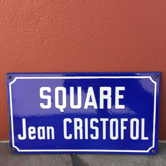 Signs & Plaques Vintage Giorgetti 2 United Old French Street Enameled Sign Plaque Antiques