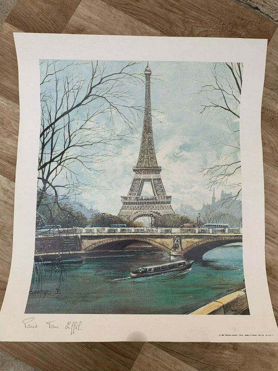 Vintage French Poster PARIS Tour Eiffel 15071915
