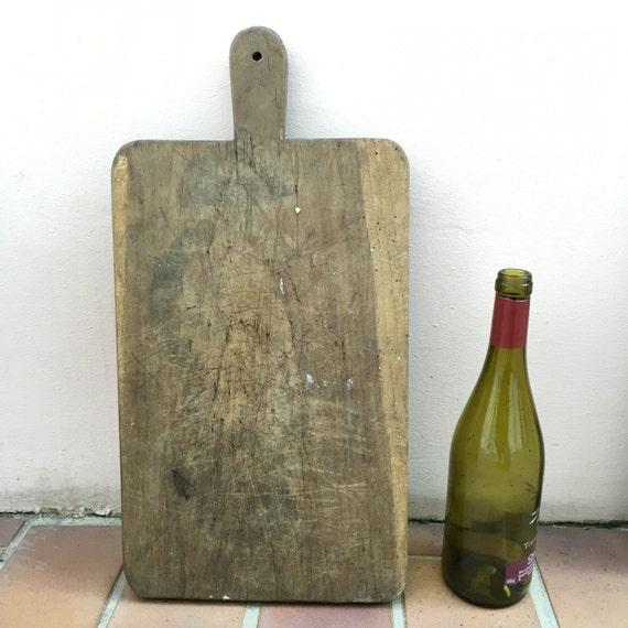 ANTIQUE VINTAGE FRANÇAIS pain ou planche à découper bois 255