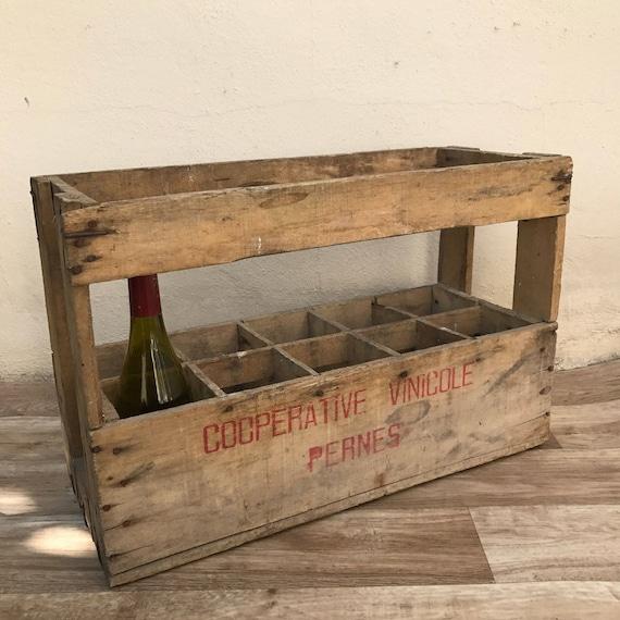 Wooden wine case Box Image Etsy 10 Vintage Bottle French Wood Wine Box Case Rack Carrier Etsy