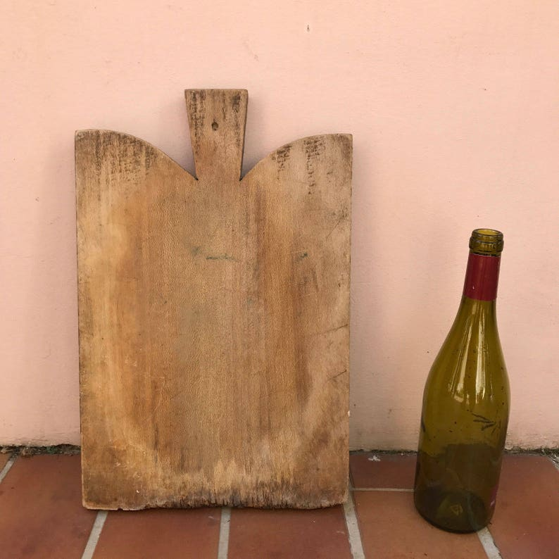 ANTIQUE VINTAGE FRENCH bread or chopping cutting board wood 18041732