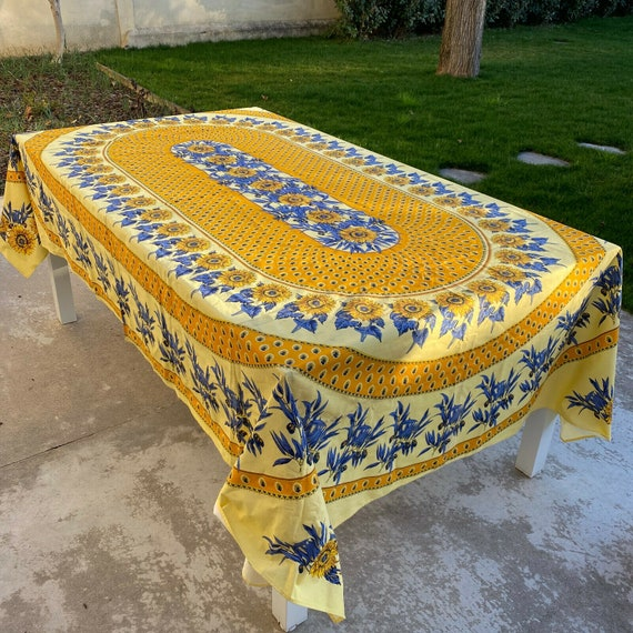 French Provencal Tablecloth tournesol sunflowers f