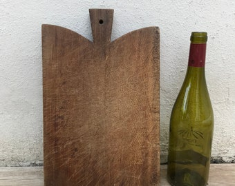 ANTIQUE VINTAGE FRENCH bread or chopping cutting board wood 14061821