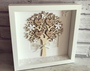 Family Tree Frame | Personalised Gift | Keepsake | Home Decor