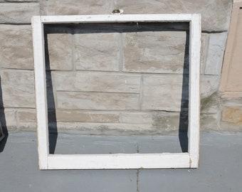 Vintage Window, Wood Window, Old Window, Antique Window, Reclaimed Window,Vintage Window Frame, Single No Glass Pane Window,Rustic Hanging