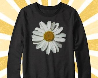 So cute Daisy Sweater - Flower Power - Flower child - Hippie - BOHO - Daisies - Fall Apparel - Hipster - 90's - Women's and Men's sweatshirt