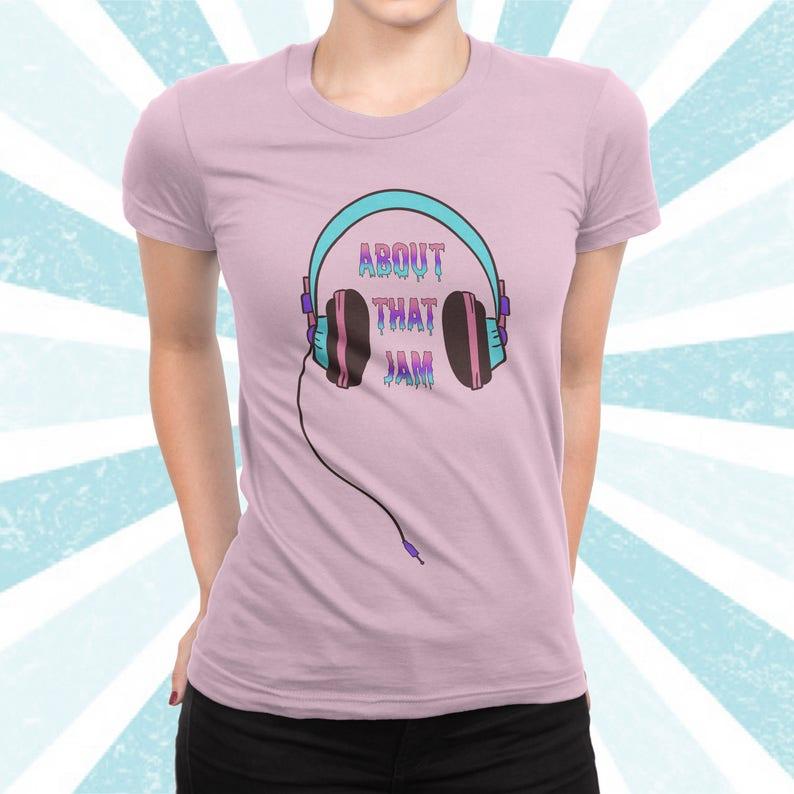 4c9c5d94f90b51 Chance-Shirt etwa dass Jam Säure Kopfhörer T-shirt | Etsy