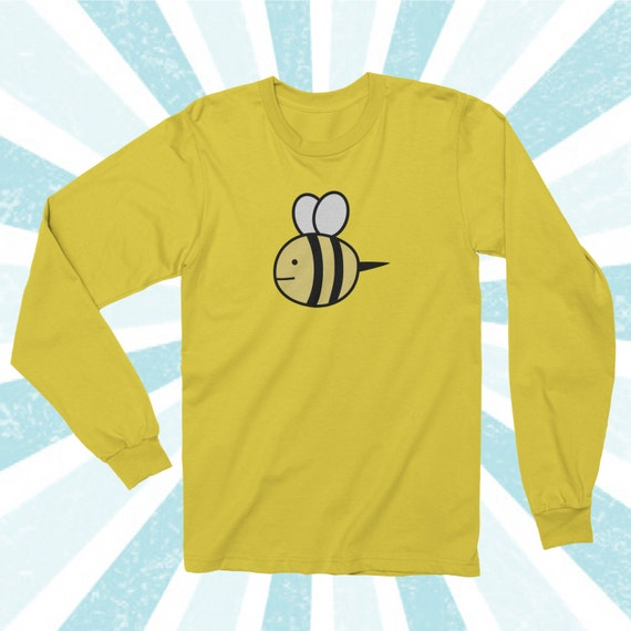 Bee Sweater Puppycat Inspired Sweater Design Long Sleeve Shirt Etsy