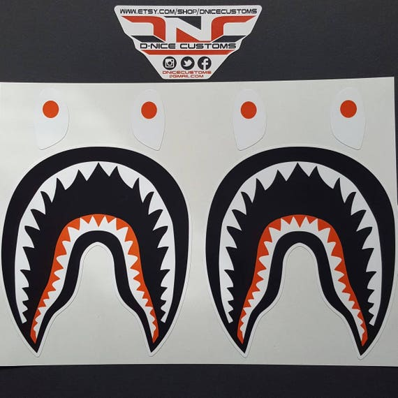 2 Bape Shark Decals