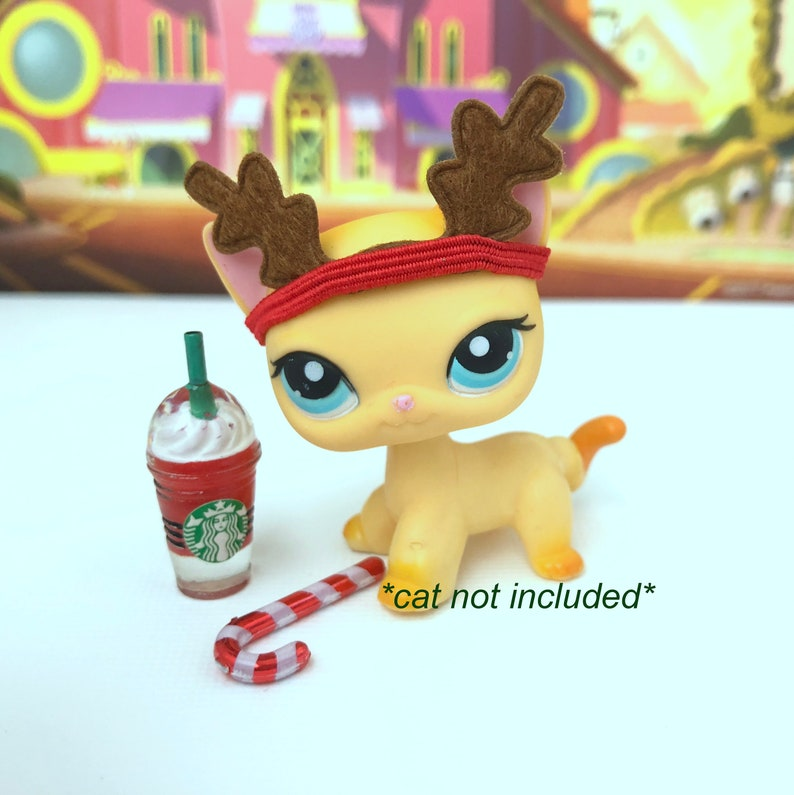 Lps Littlest Pet Shop Reindeer Starbucks Accessories Lot Cat Etsy