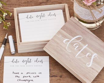 Wooden Date Box, Date Night Box, Wedding Suggest A Date Box, Wedding Gift, Hen Party Gift, Props , Date Night Suggestions, Wedding Advice
