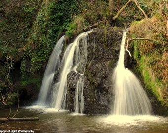 Fairy Glen Waterfall, Scotland. Landscape Photography, Nature, Wall Art, Gift for Her, Framed Print.