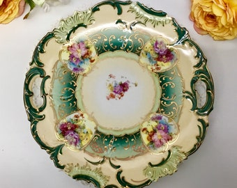 cb6431f1eeff5 Reticulated hand painted plate circa 1800 s.