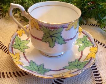 Royal Albert 1930's maple leaf teacup and saucer