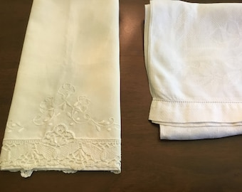 Fine linen and embroidered towels