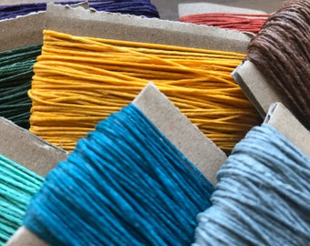 4ply Waxed Crawford Irish Linen Thread Sold by the METER, Bookbinding Cord, Macrame Kumihimo Knotting, Jewellery, Various Colors