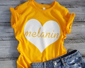 Melanin Love Women's Tee Women's Clothing Humor Tees Women's Tees