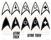 Star Trek Badge Vector Bundle Television Movie Clipart SVG EPS PNG File Printable Digital Files Cricut Silhouette Glowforge