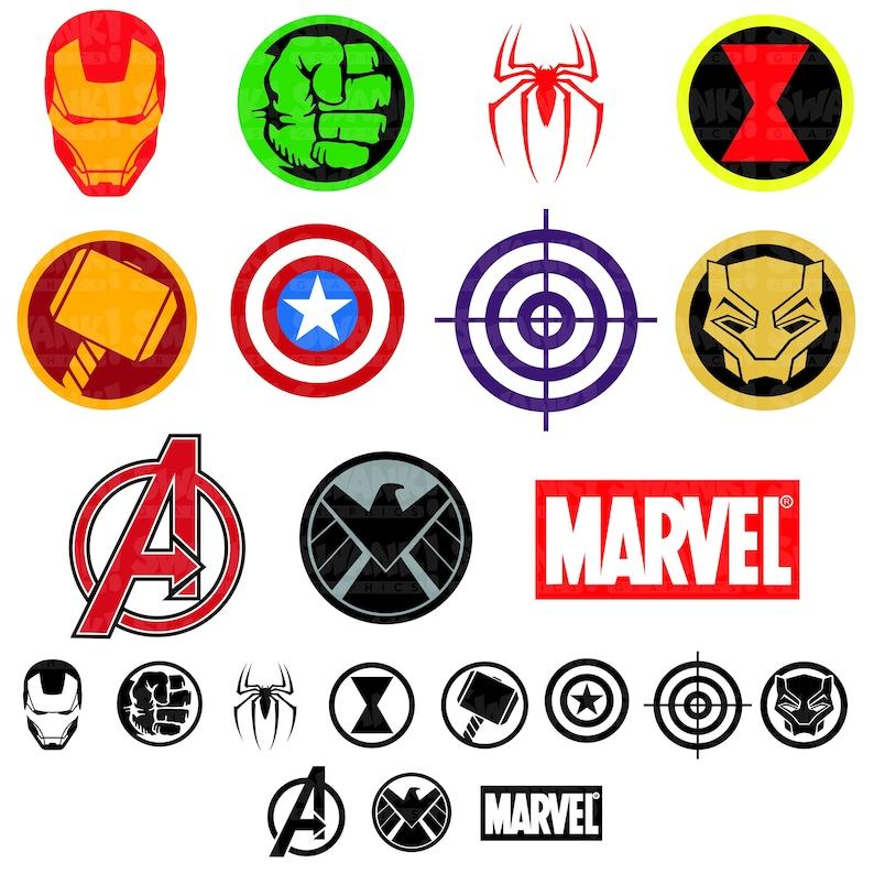 Avengers Superhero Symbol Clipart SVG/PNG/EPS Iron Man | Etsy